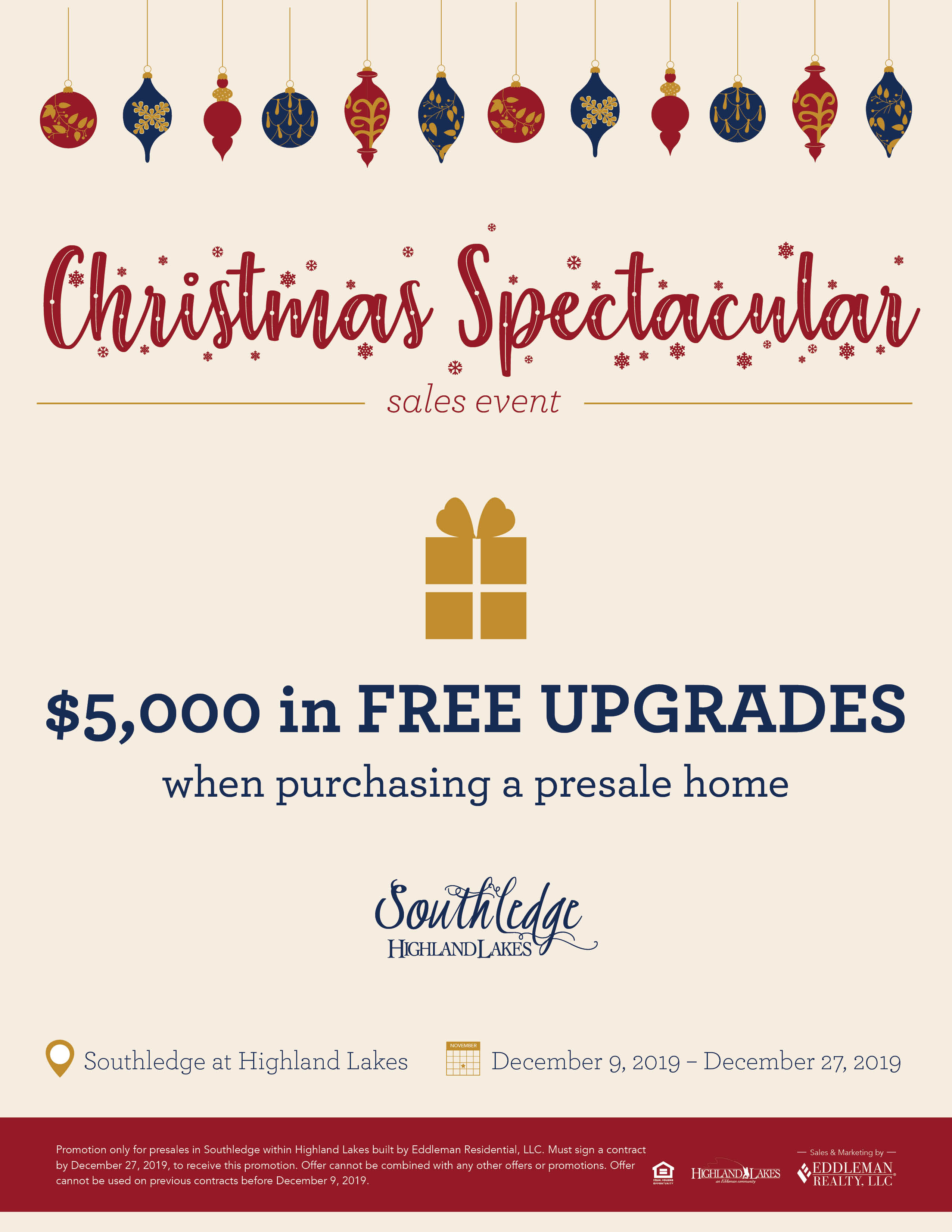 2019 Christmas Spectacular Sales Event