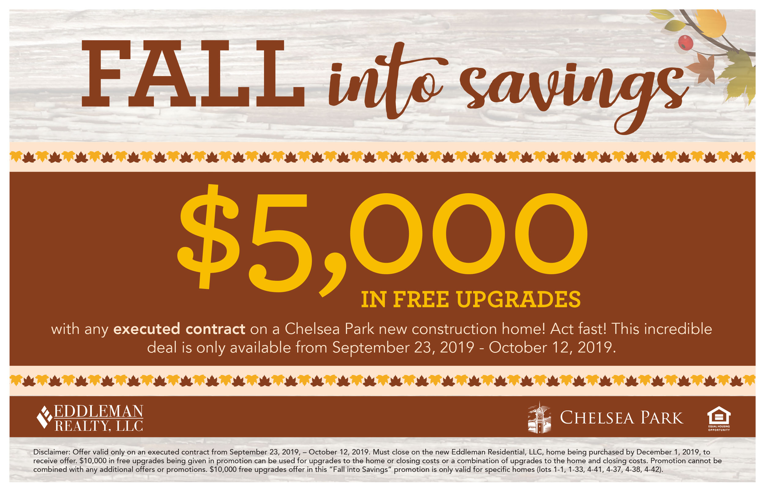 Fall Into Savings Flyers CP